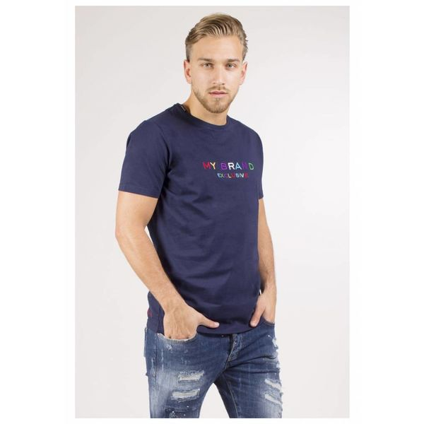 My Brand Logo Colored T-Shirt Navy