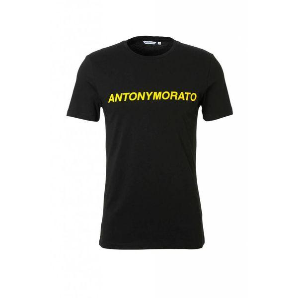 AM T-shirt Black Yellow MMKS01408