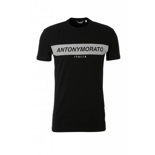 Antony Morato AM MMKS01393 Logo Basic T-shirt Zwart
