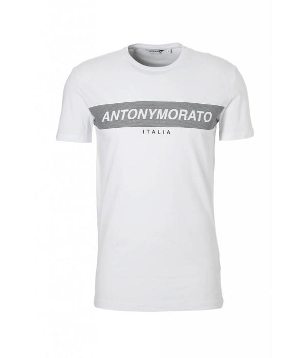Antony Morato AM MMKS01393 Logo Basic Tshirt Wit