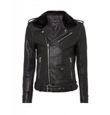Purewhite Purewhite Leather Jacket met bont 18030410