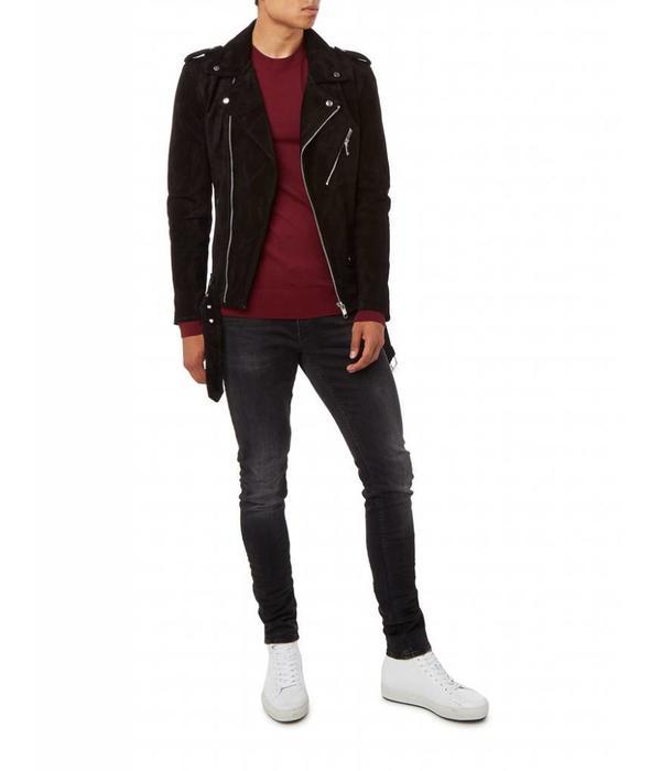 Purewhite Purewhite Suede Jacket 18030409 Black