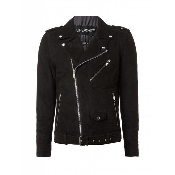 Purewhite Suede Jacket 18030409 Black