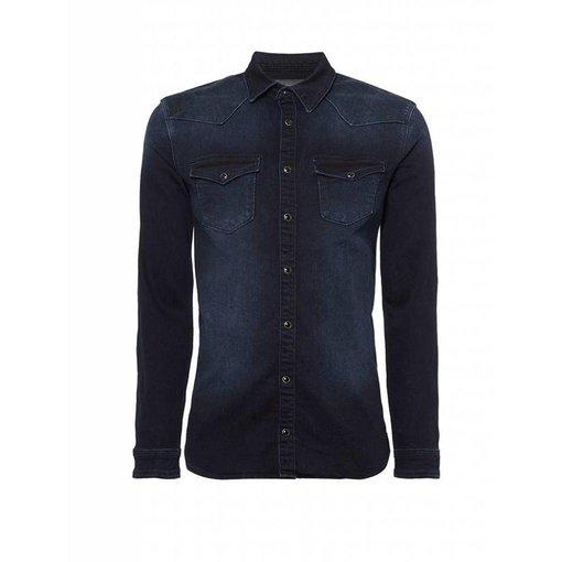 Purewhite Purewhite blouse 18030211 Blue
