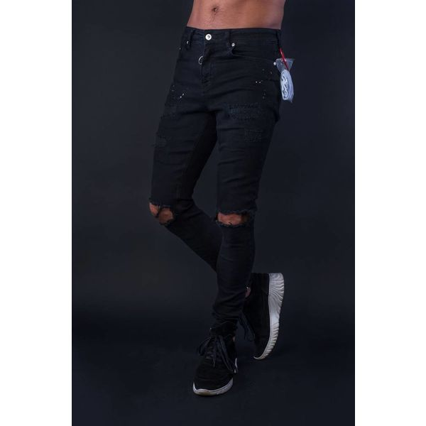 Black Bananas Destroyed Jeans Black