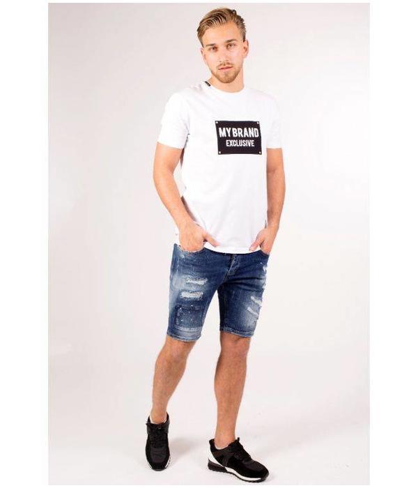 My Brand My Brand Square Logo T-shirt White