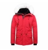 Helvetica Jacket Red