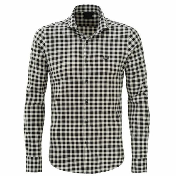 Zumo Check shirt LS Black