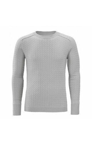 Zumo Durham-003 Sweater Light Grey