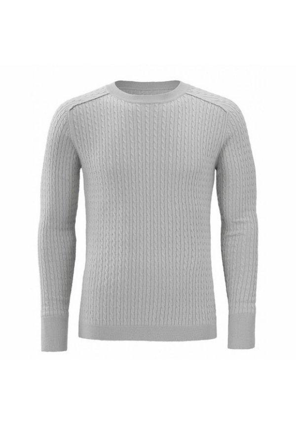 Zumo Durham-003 Sweater Light Grey
