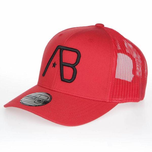 AB Retro Trucker Cap  Red