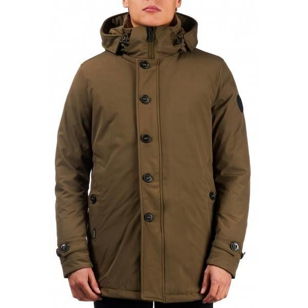 AirForce Softshell Long Parka Dark Olive Green