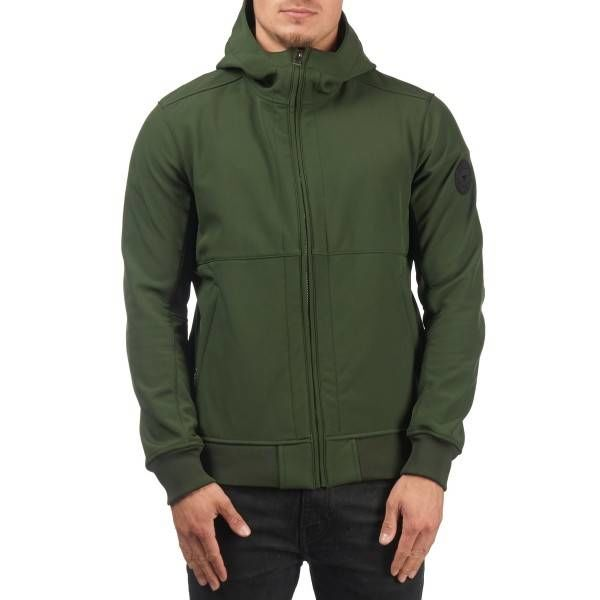 Airforce Rosin Green Softshell Casual Hooded Jacket