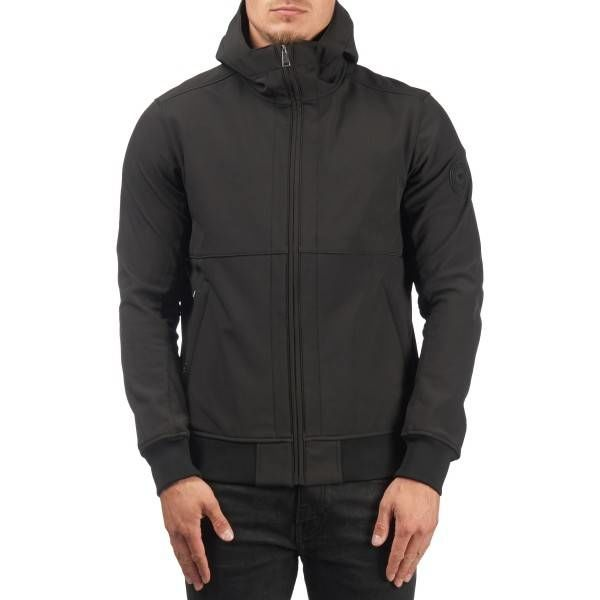 Airforce Softshell Casual Hooded Black Jacket