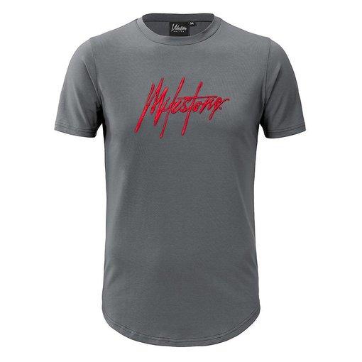 Milestone Relics Milestone Signature T-shirt Matt grey/Red