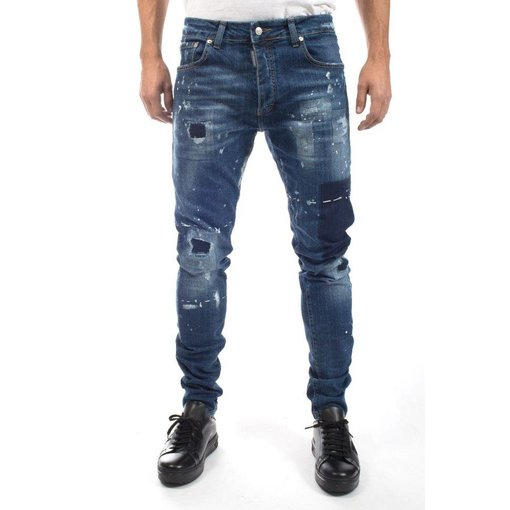 My Brand My Brand Jack 055 Destroyed Square Jeans Blue