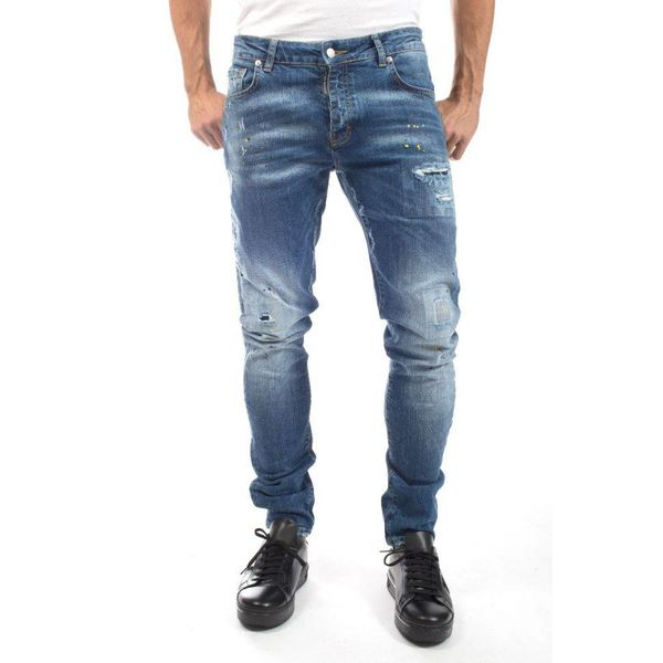 My Brand Jack 056 Yellow Spotted Jeans Blue
