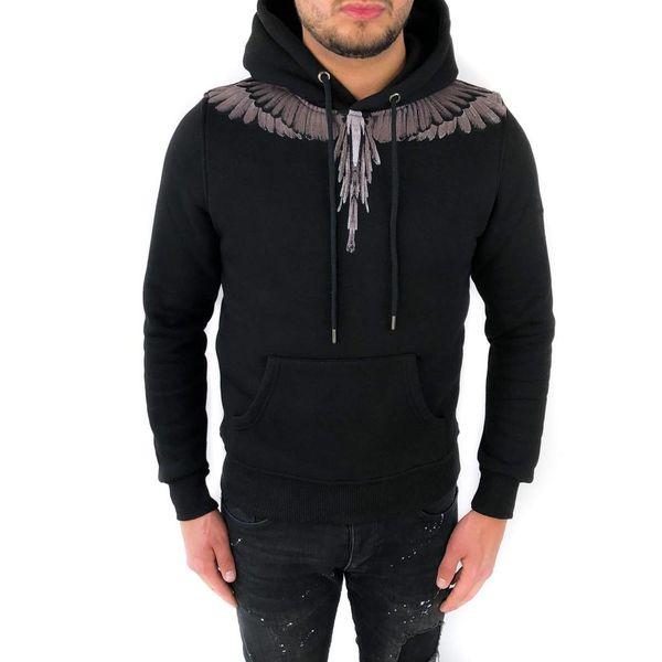 Richesse Winged Hoodie Black 3304