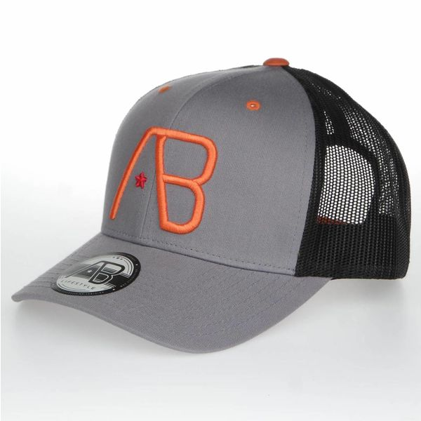 AB Retro Trucker Cap Grey/Orange