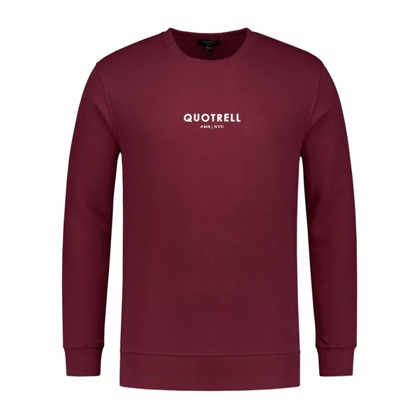 Quotrell Crewneck Mini logo Bordeaux