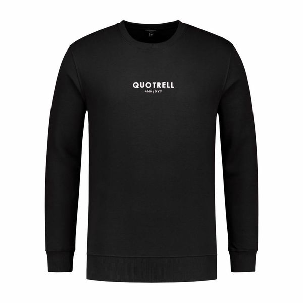 Quotrell Crewneck Mini Logo Black