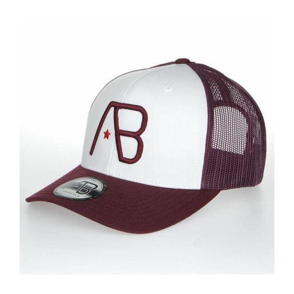 AB Retro Trucker Cap Maroon/Wit
