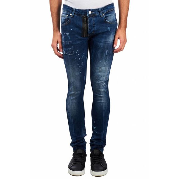 My Brand Jack 044 Zipper Destroyed Jeans Blue