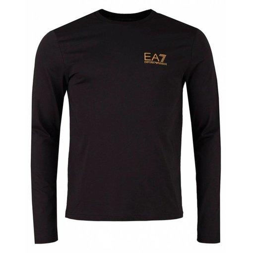 EA7 EA7 6ZPT54 T-Shirt Black Gold Logo