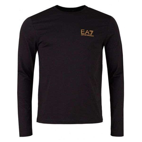 EA7 6ZPT54 T-Shirt Black Gold Logo