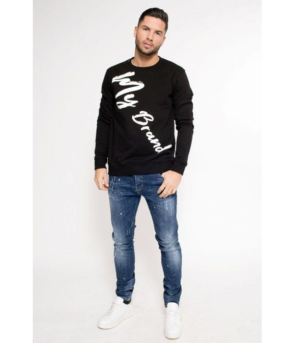 My Brand My Brand MB Writing Sweater Black