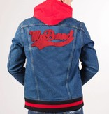 My Brand College Logo Denim Jacket Blue