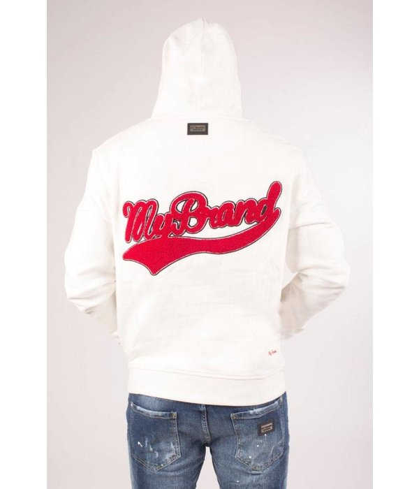 My Brand My Brand College Logo Hoodie Off White