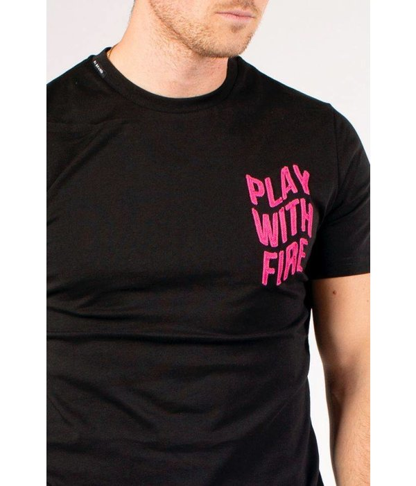 My Brand My Brand Play With Fire Logo T-Shirt Black