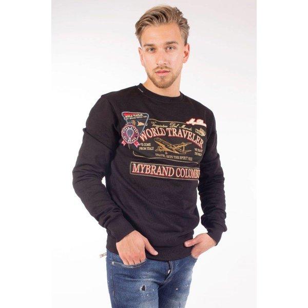 My brand World Traveler Badges Sweater Black