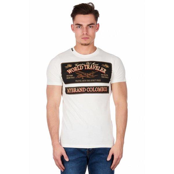 My Brand World traveler Badges t-Shirt Off White