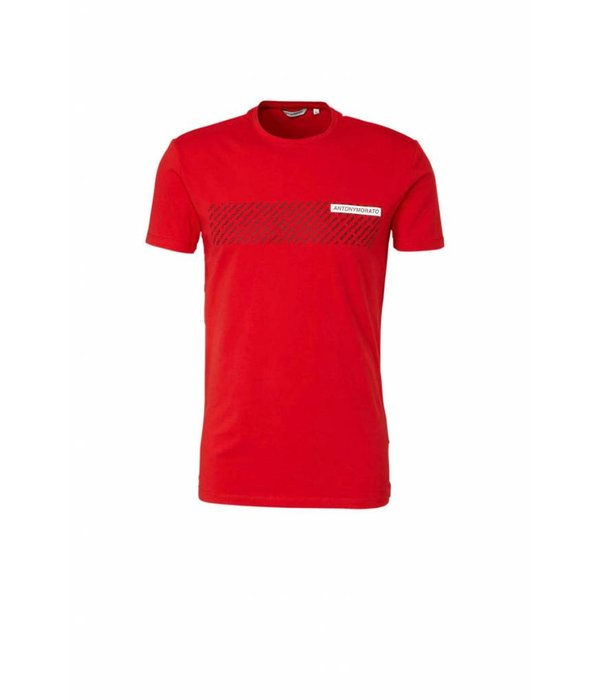 Antony Morato Antony Morato FA120001 T-Shirt Red Black/white