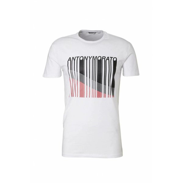 Antony Morato Fa120001 T-Shirt White Black/Red