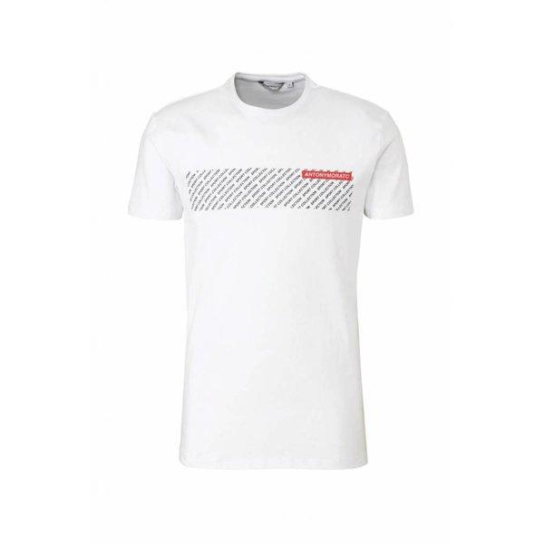 Antony Morato FA120001 Tshirt White/Black/Red
