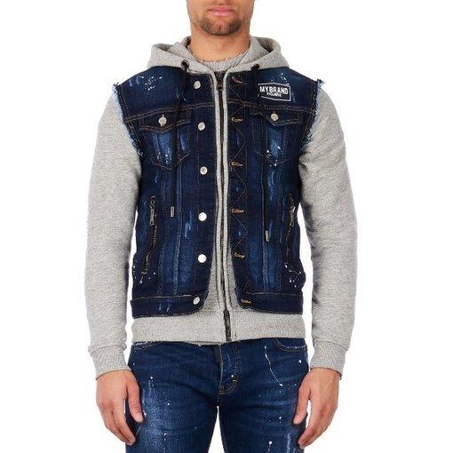 My Brand My Brand Denim Hoodie Jacket Grey