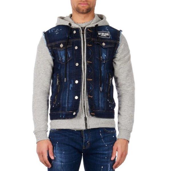 My Brand Denim Hoodie Jacket Grey