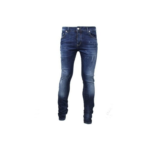 My Brand Dark Spotted Washed Jeans Denim Blue