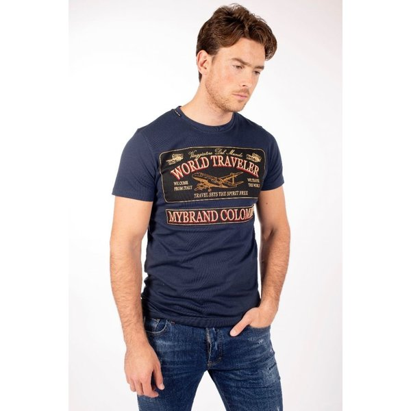 My Brand World Traveler Logo T-Shirt Navy