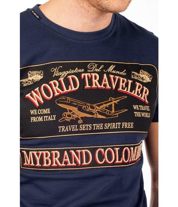 My Brand My Brand World Traveler Logo T-Shirt Black