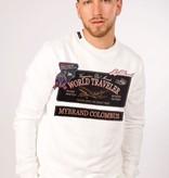 My Brand World Traveler Badges Sweater White