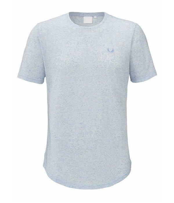 Zumo Zumo Bundy-Linen T-Shirt Blue
