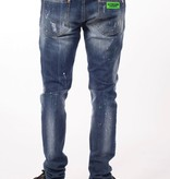My Brand My Brand Neon Green studded Washed Jeans Denim Blue