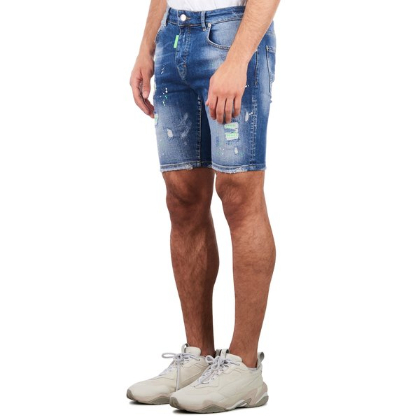 My Brand washed 1E Short Jeans Denim Blue