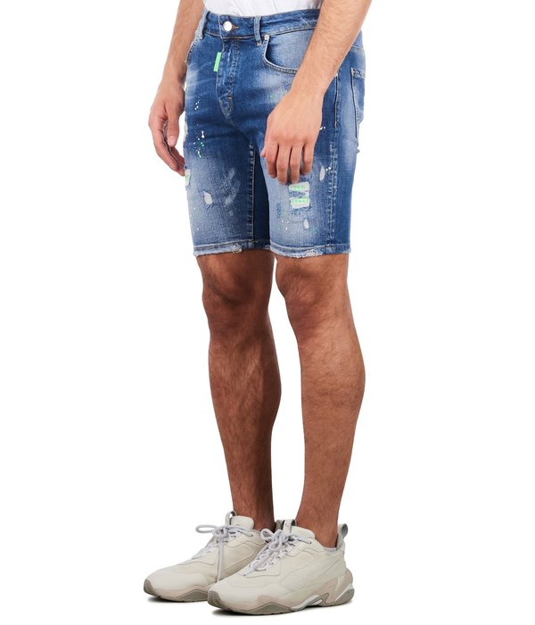 My Brand My Brand washed 1E Short Jeans Denim Blue