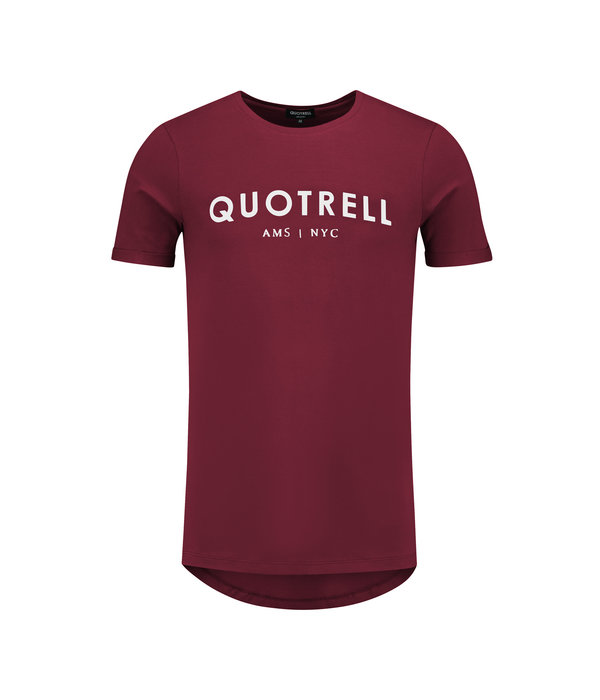 Quotrell Quotrell Tee Bordeaux/White