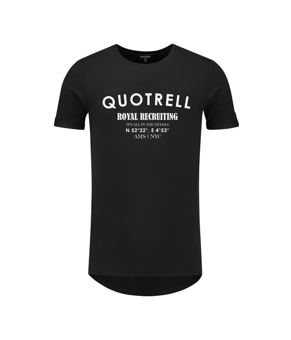 Quotrell Quotrell Royal Recruiting Tee Black/White